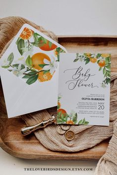 Looking for the perfect citrus Baby Shower invitation suite? • Go to www.thelovebirdsdesign.etsy.com • Choose your theme • Use code PIN20 to save 20% • Edit your templates • Download • Print professionally or save even more bugs when printing at home That's it! 🥳 5 easy steps to follow along. Please don't hesitate to contact me if you have any questions. I am always happy to help. Summer Bridal Showers, Baby Sprinkle, Baby Shower Parties, Shower Party, Bridal Shower Invitations, Party Invitations, Envelope Liners, Place Card Holders, Printables