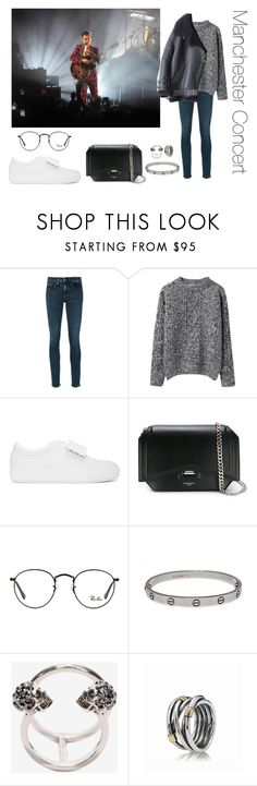 """""""Manchester Concert"""" by whoworethat ❤ liked on Polyvore featuring Calvin Klein Jeans, Peter Jensen, Acne Studios, Givenchy, Ray-Ban, Cartier, Alexander McQueen and Pandora"""