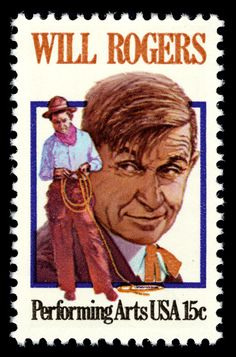 US Stamp - Will Rogers,