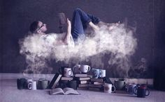 lire dans les nuages read book coffee café | Flickr - Photo Sharing!