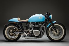 "Triumph Bonneville Cafe Racer ""Moose"" by Mean Machines #motorcycles #caferacer #motos 