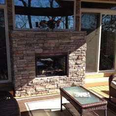 Indoor Outdoor Fireplace - 2002 Street of Dreams home by O\'Neill ...