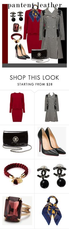 """""""patentleather chic"""" by starrybell ❤ liked on Polyvore featuring KamaliKulture, Chanel, Christian Louboutin, Ann Taylor, Hermès, hermes, Louboutin and patentleather"""