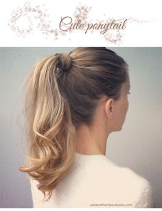 First put your hair in a ponytail (you can of course curl your whole hair but it´s not necessary), then with a medium curling iron curl the ponytail. Take small to medium sections, curl them and the best thing to make the curl last for a long time is to pin it up with a clip or bobbypin until it cools off and then spray a bit with a light hairspray before you release it.