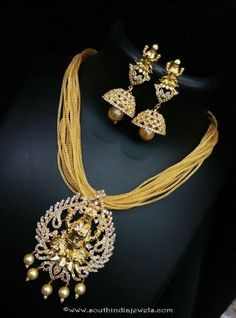 Gold Plated Short Necklace with Jhumka