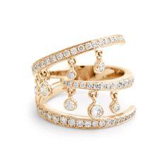 MARLI NYC -- Caprice Pixi Ring 18K Rose Gold and Diamond #midi