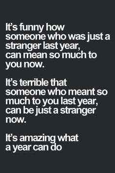 Things change. So do people.