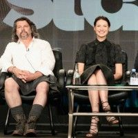 Interview with OUTLANDER EP Ron Moore, creator Diana Gabaldon, stars Sam Heughan & Caitriona Balfe. Ronald D. Moore: This is a kilt made for me by Howie at 21st Century Kilt in Edinburgh. He's made several kilts for me myself and Sam, and he's, sort of, our kilt man, you know, in Edinburgh. He's a great guy, and I just wanted to have some kilts because, hey, that's what I'm doing now. And so I went to his shop with my wife and bought and had some made.