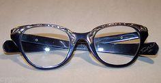 Classic Tura 1950's Aluminum Cat Eye Glasses 12K Gold Filled Trim Levoy Designer   eBay