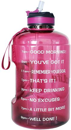 BuildLife Gallon Motivational Water Bottle Wide Mouth with Straw & Time Marked to Drink More Daily, BPA Free Reusable Large Outdoor Capacity Gallon Water Bottle, Water Bottle With Straw, Best Water Bottle, Protein Shakes For Women, Daily Water Intake, Raspberry Ketones, How To Increase Energy, Drinking Water, Drinks