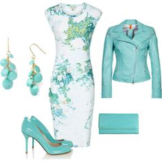 """""""turquoise"""" by ameve on Polyvore"""