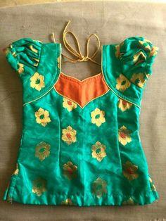 Best 12 Blouse design – Page 574349758720321379 Baby Girl Dress Patterns, Dresses Kids Girl, Frocks For Girls, Kids Outfits, Baby Frocks Designs, Kids Frocks Design, Kids Blouse Designs, Dress Neck Designs, Kids Ethnic Wear