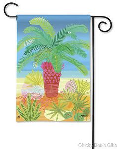 BreezeArt Garden Flag Pretty Palm Tree Summer NEW