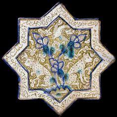 A Kashan Lustre Star Tile Dated 1279-80 AD