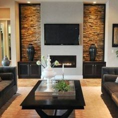 Living Room With Wall Mounted Fireplace Electric And Lcd Tv , Modern Wall Mounted Fireplace Electric In Home Design and Decor Category