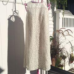Lace and Linen Ivory Dress - Women's Size S #YANSIFUGEL #Shift #Cocktail