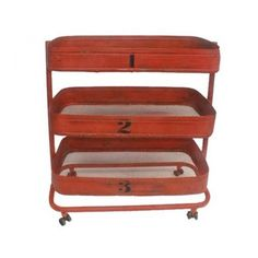 carro trolley rojo | Tiendas On