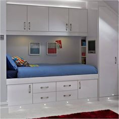 White Cabinet Bed