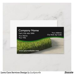 Lawn Care Services Design Business Card | Zazzle.com | 1000 - Modern | 1000 Lawn Care Business Cards, Lawn Service, Name Calling, Company Names, Business Card Design, Service Design, Landscape, Modern, Acre