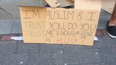 I'M MUSLIM & I TRUST YOU. DO YOU TRUST ME ENOUGH FOR A HUG? | MANCHESTER Just a few things to note:  Making this video has a been a great experience the warmth and love i felt from each hug was truly wonderful. I want to thank the 2 guys that helped me out with this video without them i would not have been able to do this: Ahmad & Abdullah  Secondly if you're gonna watch this video turn up the volume remove any distractions and watch teh whole thing trust me you'll thank me for it :)…