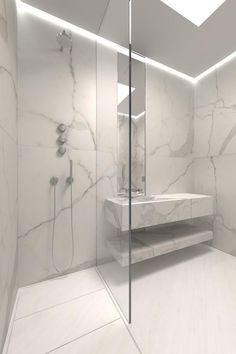 Modern Shower Tile Cool Modern Shower Design Ideas With Marble Tile Modern Bathroom Shower Tile Ideas Modern Bathroom Design, Contemporary Bathrooms, Bathroom Interior Design, Modern Interior, Marble Interior, Luxury Bathrooms, Luxury Interior, Modern Design, Bad Inspiration