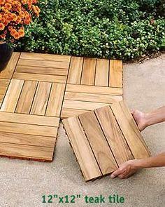 Teak Tiles For Patio