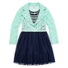 jcp   Knit Works Moto Jacket and Dress - Girls 7-16 and Plus