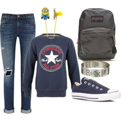 All Star Rock by terriboo on Polyvore featuring polyvore, fashion, style, J Brand, Converse, JanSport, Gypsy SOULE and clothing