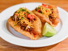 Why You Should Turn Your Taco Night Into Puffy Taco Night Puffy tacos, a San Antonio specialty, are made from fresh masa that puffs and crisps in hot oil. The result is crisp outside and soft within, and way more fun that your standard hard taco Mexican Dishes, Mexican Food Recipes, Ethnic Recipes, Mexican Pizza, Puffy Tacos, Tacos And Burritos, Cooking Recipes, Healthy Recipes, Latest Recipe