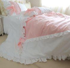 Brandream Romantic Pink Ruffle Bedding Set Korean Girls Bedding Sets,King //Price: $155.32 & FREE Shipping //     #bedding