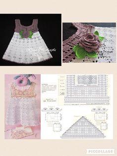 Smocking Patterns Baby Patterns Crochet Motifs Crochet Patterns Baby Girl Dresses Baby Dress Crochet For Kids Baby Knitting MacrameImage gallery – Page 307863324526319619 – Artofit Crochet Baby Dress Pattern, Crochet Fabric, Baby Girl Crochet, Crochet Baby Clothes, Crochet Diagram, Crochet Chart, Crochet Patterns, Knitting For Kids, Crochet For Kids