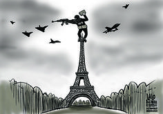 A savage beast has attacked Paris, and killed at least 129 and injuring 300 or more. This beast has been on a rampage for weeks, and had just hit Beirut, Lebanon and a Russian airliner, according to t Good Cartoons, Beirut Lebanon, I'm Afraid, Love People, City Lights, Savage, San Diego, Beast, Paris