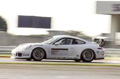 Jesse out testing in the Porsche Carrera Cup GB car