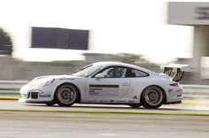 Jesse out testing in the Porsche Carrera Cup GB car