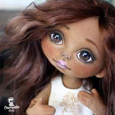 Купить Текстильная кукла Мулаточка - коричневый, текстильная кукла мулатка, кукла мулатка, кукла афро