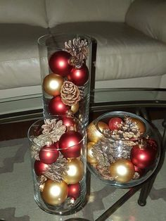 Dollar Store Christmas Table Centerpieces - Wine Glass Candle Holders - Happy Christmas - Noel 2020 ideas-Happy New Year-Christmas Simple Christmas, Beautiful Christmas, Christmas Home, Christmas Holidays, Country Christmas, Nordic Christmas, Modern Christmas, Gold Christmas, Christmas 2019