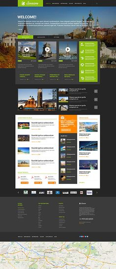 Journey Travel Guide Website #WordPress #template. #themes #business #responsive