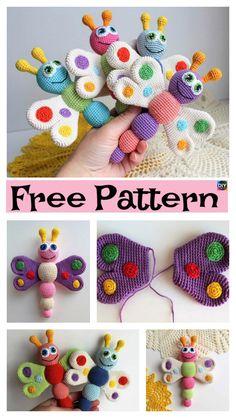 Easy Crochet Amigurumi Butterfly – Free Patterns #freecrochetpatterns #butterfly #amigurumi