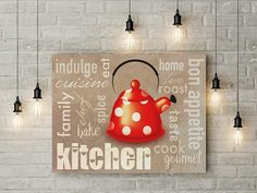 Kitchen wall decor word art poster 28x20 print