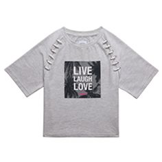 Cropped LLL Crewneck Grey Live Laugh Love, T Shirts For Women, Crop Tops, Sweatshirts, Mens Tops, Clothes, Style, Image, Fashion