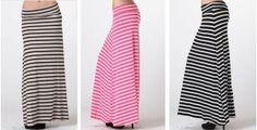 Striped Maxi Skirts - 4 Colors! | toadorn.com