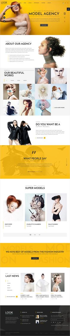 LOOK #Model Agency is a wonderful Bootstrap #HTML template, suitable for any fashion model agency or creative #photography portfolio website download now➩ https://themeforest.net/item/look-model-agency-html-template-with-visual-page-builder/18554263?ref=Datasata