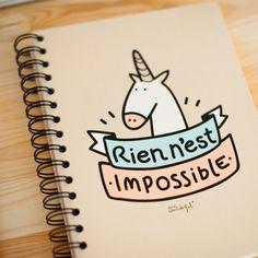 Une licorne c'est magique, magnifique, et avec une licorne tout est possible ! Elle vous motive Elle vous met des étoiles plein les yeux Un carnet pour ne pas oublier vos rêves