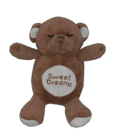 """Brown Snoring Bear Toy - Product Description: 6"""" Super Soft chocolate brown plush bear toy.. makes snoring sound when pressed. Very cute! - Price: $10.99 - SKU: HD-8SBBR - Brand: Hip Doggie - from HipDoggie.com"""