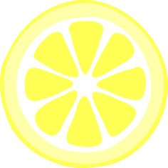 yellow lemon slice png large