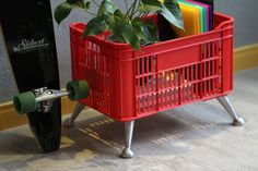 """A little taste of my office. // Siebert 60"""" Longboard // And Xote Basket by Lioli"""
