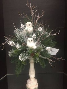 Winter woodland Collection, 2016 floral design, Tara Powers Michaels of Midlothian, Va. Christmas Flower Arrangements, Christmas Flowers, Christmas Centerpieces, Xmas Decorations, Christmas Wreaths, Winter Floral Arrangements, Advent Wreaths, Christmas Tables, Christmas Floral Designs