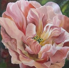 Tulip In Pink Painting by Alfred Ng - Tulip In Pink Fine Art Prints and Posters for Sale