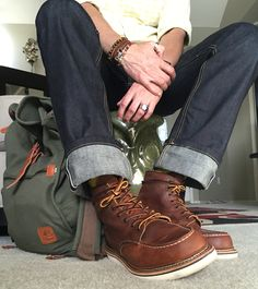 Red wing Moc toe boot 1907 #mens #RedWing #RedwingBoots #RedWingHeritage