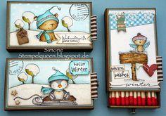 Matchboxes So Cute! Purple Onion Designs!